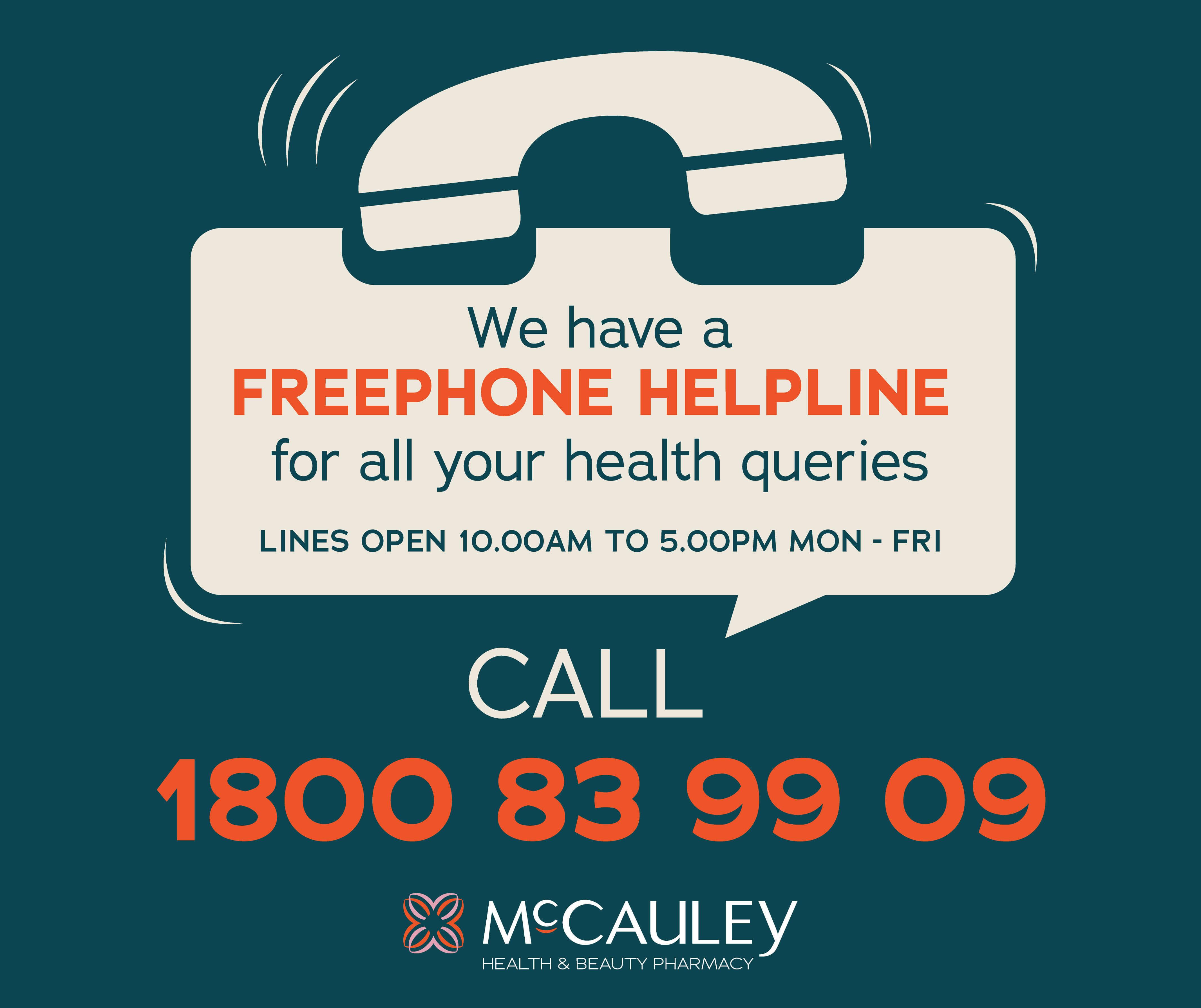 McCauley Freephone Helpline