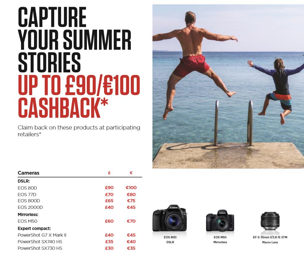 Canon SUMMER cashback 2019